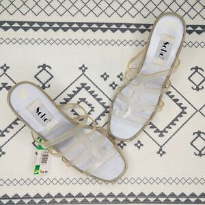 Vintage 90's Jellys Sandals Size 8 New Slide On Clear Chunky Y2K Retro Soho
