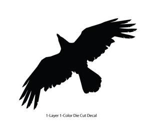 Wildlife / Birds - Raven Crow 6 Soaring Flying Decal 6Yrs Outdoor Vinyl Sticker