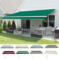 Manual DIY Patio Awning Outdoor Garden Canopy Sun Shade Retractable Shelter