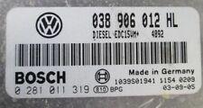 VW POLO SEAT IBIZA ECU 1.9 SDI 64 ASY 038906012HL  0281011319  IMMO OFF