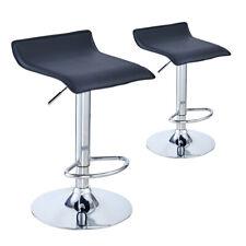 2x Bar Stool Breakfast Bar Chair Kitchen Pub Stool Z Shape Swivel Barstool Black