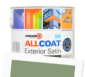 Zinsser Allcoat Exterior 15 Year Protection WB Tintable Green RAL 6021 Satin 1L