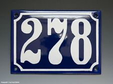 Emaux, E-Mail-numéro de maison 278 in bleu/blanc pour 1955