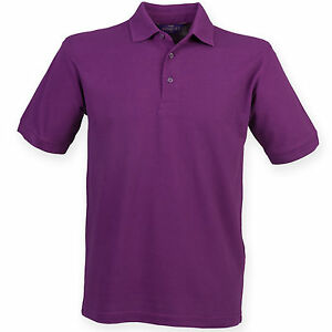 Henbury Men's Casual Formal 65/35 polo T Shirt HB400  All Colours & Sizes