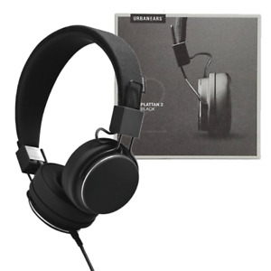 URBANEARS PLATTAN 2 WIRED ON-EAR STEREO DJ HEADPHONES FOLDABLE ADJUST - BLACK