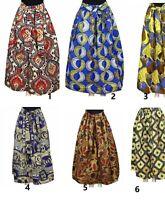 New fashion womens printed African Dashiki long maxi Ankara skirts with pockets