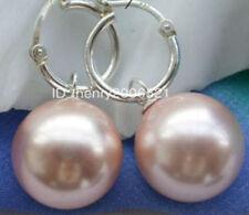 Rigant beautiful 12mm southsea shell pearl pink drip earring