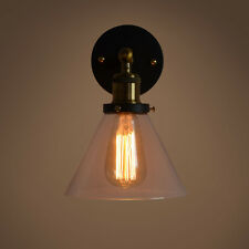 Metal Glass Light Retro Vintage Industrial Wall Lamp Sconce Fixture Light Decor