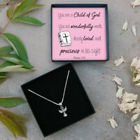 Sterling Silver Angel Necklace Girls Christening Baptism Gift Present Jewellery
