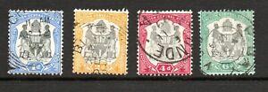 Nyasaland, part set to 6d black and green, SG 43 - 46, FU,  1897 - 1900.