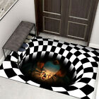 Внешний вид - Halloween Mat Home Carpet Clown 3D Manhole Cover Horror Floor Mat Decor Party US