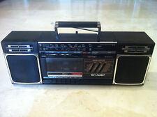 Vintage SHARP GF-319Z radio cassette recorder boombox ghettoblaster working