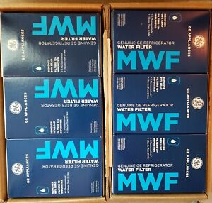 Lot of 6 Genuine GE MWF MWFP Water Filters, New in Box