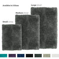 Shaggy Rug Cozy Sheepskin Bath Rug Fluffy Solid Area Mat Non-Slip Backing Rubber