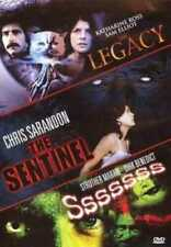 The Legacy, Sentinel ,Sssssss, 2 DVD,3 HORROR MOVIES,Chris Sarandon,Sam Elliot