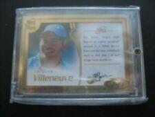 JACQUES VILLENEUVE AUTO Autograph Futera 1/1 Gold Formula 1