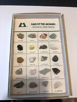 Set of 20 Rocks Collection in Box Cave Of The Mounds Mineral Specimens Wiscosin