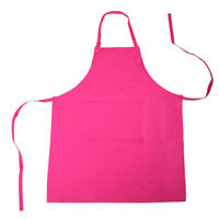 100% COTTON FULL PLAIN APRON with FRONT POCKET - Black, Red, Lime Green, Pink