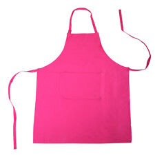 Cotton Kitchen Apron - Chef Cooking Aprons With Front Pocket Pink