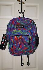 TRANS BY JANSPORT GIRLS OR BOYS MULTI COLORED BACKPACK COLORFUL SWIRL  PRINT