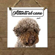 Lagotto romagnolo MOD 4 Attenti al cane Targa cane cartello PIASTRELLA