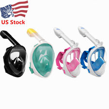 Anti-Fog Full Face Mask Swimming Breath Diving Goggle Snorkel Scuba For GoPro US