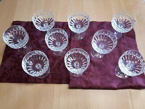9 Sektschalen bleikristall. Nachtmann Patrizia
