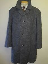 "original harris tweed grau mantel gr. l 42"" regular euro 52"