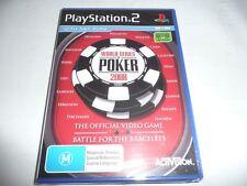 WORLD SERIES POKER BATTLE 2008 PS2 GAME NEW