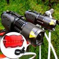 800LM CREE Q5 LED Bike Cycling Zoomable Head Front Lamp Torch Light Mount Holder