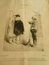 Litho 1849 Au bal masqué ou allons nous nicher mon Pierrot