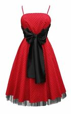 New Polka Dot Rockabilly Vintage Cocktail Party Evening Prom Dress Size 8 BN