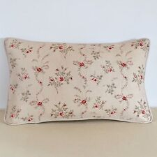 """NEW Kate Forman Sprig Linen Fabric 20""""x12"""" Piped or Pom Pom Cushion Cover"""