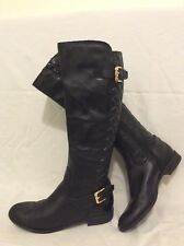 Office Black Knee High Leather Boots Size 37