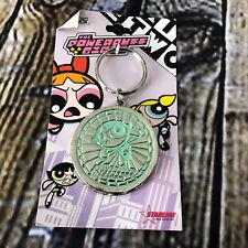 The Powerpuff Girls Buttercup Color Circle Metal Keychain with Mirror Side