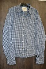 Chemise Homme Abercrombie & Fitch New York Muscle bleu blanc carreaux XXL Neuf