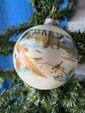 NATIONAL WILDLIFE FEDERATION 1976 Christmas Ornament Deer Rabbit Birds ❤️sj3j