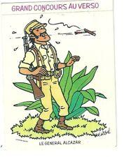 Autocollant sticker général Alcazar Tintin Hergé Vache qui rit concours 1977