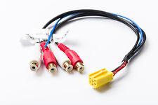 MINI ISO Kabel Adapter 4 Kanal Line Out auf Chinch 4 RCA passend für  Blaupunkt