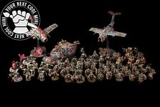 CUSTOM ORDER Warhammer 40K, Confederates Orks Army PRO-PAINTED extra fine detail