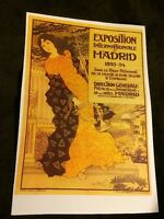 Vintage Exposition International Art Nouveau Madrid 1893-94 Repro Poster Print