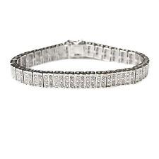 Gold Diamond Bracelet 1 Ct Tdw Bracelet Rhodium Over Brass Round Cut Gift New