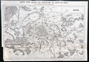 1873 - Card For Track Operations Of Seat de Paris - Philippoteaux - Plan