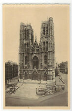 Eglise Sainte Gudule Brussels Bruxelles Belgium postcard