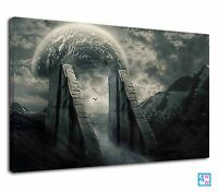Entrance Of The Mysterious Planet Fantasy Art Canvas Print Wall Art Picture