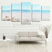 5pcs Unframed Beach Sea Star Canvas Prints Modern Art Picture Wall Decor Room