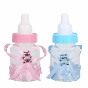 Candy Bottle Plastic Solid Baby Shower Decorations Chocolate Jar Party Supplies