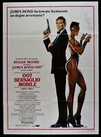 Werbeplakat 007 Target Mobile Ian Fleming Roger Moore Agent Geheimnis M251