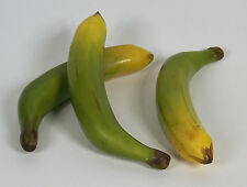 Designer Two Artificial Faux Fake Green & Yellow Banana Fruit