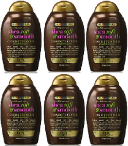 OGX  Shea Soft and Smooth Conditioner, 13 Oz. ( 6 Pack)